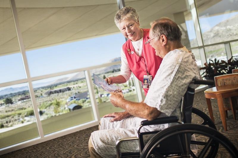 volunteering at a nursing home